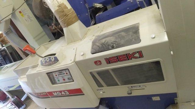 籾すり機の掃除と片づけ